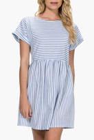 Everly Striped Babydoll Dress