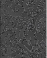 Graham & Brown Wallpaper Sample - Saville Black