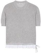 Miu Miu Knitted cotton top