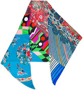 Pierre Louis Mascia Pierre-Louis Mascia - clashing prints scarf - women - Silk - One Size