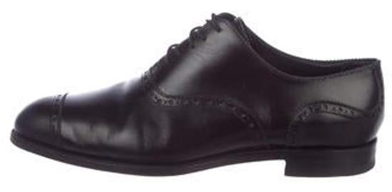 Barker Black Brogue Leather Oxfords black Brogue Leather Oxfords
