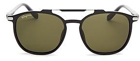 Salvatore Ferragamo Men's Brow Bar Square Sunglasses, 54mm