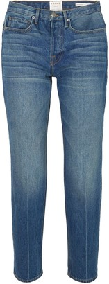 Frame Le High Cropped High-rise Straight-leg Jeans
