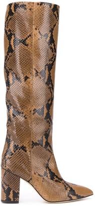 Paris Texas Snakeskin-Effect Pull-On Boots