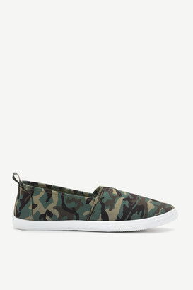 Ardene Basic Slip-On Camo Sneakers - Shoes |