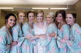 Etsy Light Grayed Jade Faded Flowers Bridesmaids Robe Sets Kimono Robes. Bridesmaids gifts. Getting ready