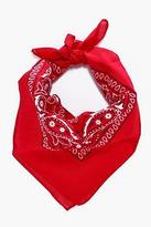 boohoo Mens Paisley Print Bandana in Red size One Size