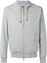 Eleventy zip hooded jacket - men - Cotton/Polyamide/Spandex/Elastane/Cupro - L