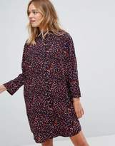 Monki Confetti Print Shirt Dress