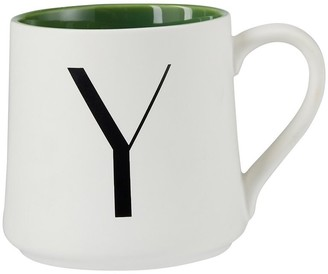 Indigo Monogram Mug Y