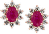 Effy Amoré by Certified Ruby (1-9/10 ct. t.w.) and Diamond (3/4 ct. t.w.) Earrings in 14k Rose Gold