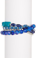 Kenneth Cole New York Four-Row Multi Bead Stretch Bracelet