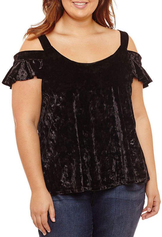 61b256add11e8a Plus Size Velvet Tops - ShopStyle