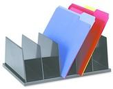 Universal Large Desktop Sorter, Five Sections, Plastic, 13 1/2 x 9 1/8 x 5, Black