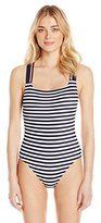 Tommy Hilfiger Women's Lake Side Cross Back One Piece Swimsuit