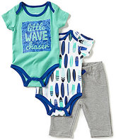 Baby Starters Baby Boys 3-12 Months Little Wave Chaser Short-Sleeve Bodysuits & Pants Set