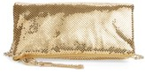 Whiting & Davis Mesh Foldover Crossbody Clutch - Metallic