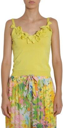 Boutique Moschino Bow Detail Spaghetti Strap Top
