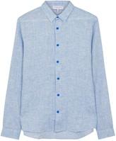 Orlebar Brown Morton Light Blue Linen Shirt