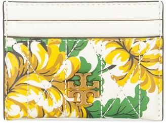 Tory Burch Kira quilted floral cardholder