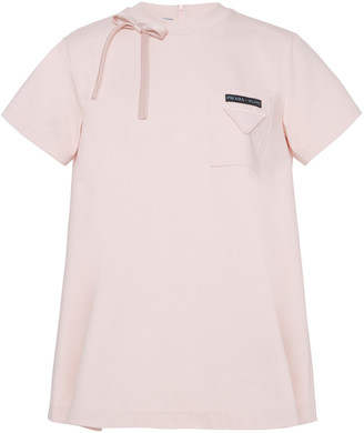 Prada Embellished Cotton-Jersey T-Shirt