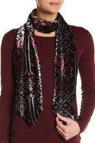 Collection XIIX Ikat Velvet Slim Scarf