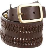 Diane von Furstenberg Leather Woven Waist Belt