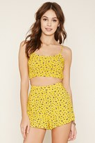 Forever 21 FOREVER 21+ Ditsy Floral Print Cropped Cami