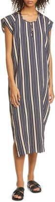 Zero Maria Cornejo Rae Stripe Caftan Dress