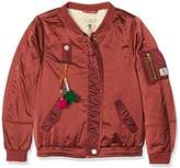 Scotch & Soda R'Belle Girl's Teddy Satin Bomber Jacket