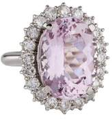 Ring Kunzite & Diamond Halo Cocktail