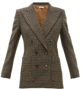 Bella Freud Bianca Double-breasted Wool-tweed Blazer - Womens - Brown Multi