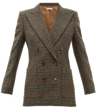 Bella Freud Bianca Double-breasted Wool-tweed Blazer - Womens - Brown Multi