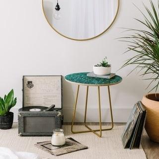 Deny Designs Aqua Glitter Side Table