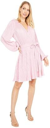Bardot Belissa Pleat Dress (Light Pink Shine) Women's Dress
