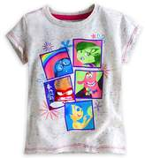 Disney Store Deluxe Inside Out Tee T Shirt Size M 7 - 8 Fear Joy Anger Disgust