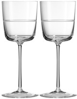 Vera Wang X Wedgwood Vera Bande Set Of 2 Wine Glasses