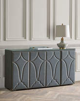 Hooker Furniture Rocke Upholstered 4-Door Credenza