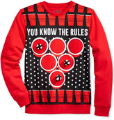 American Rag Men's Beer Pong Game Sweatshirt with Removable Velcro Balls, Only at Macy's