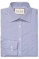 Thomas Pink Burley Check Classic Fit Traveler Dress Shirt