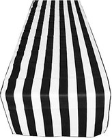 "ArtOFabric Decorative Cotton 1 Inch Black and White Stripped Table Runner. 12"" X 70"""