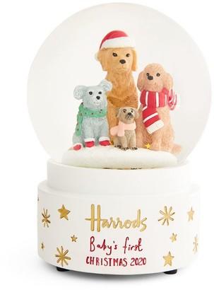 Harrods My First Puppy Snowglobe Christmas Decoration 2020