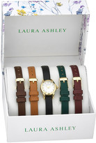 Laura Ashley Women's Watches - Goldtone Slim Watch & Interchangeable Band - Set of Five