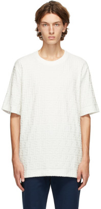 Fendi White Velour Forever T-Shirt