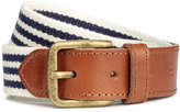 H&M Belt with Leather Details - Dark blue/striped - Men