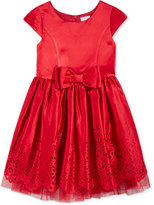 Sweet Heart Rose Bow-Detail Lazer-Cut Special Occasion Dress, Little Girls (2-6X)