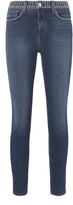 L'Agence Margot Studded High-Rise Ankle Skinny Jeans