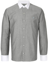 GUILD PRIME polka dot collared shirt