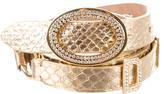 Dolce & Gabbana Metallic Snakeskin Belt