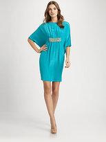 Josie Natori Silk/Cotton Caftan Dress